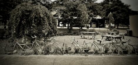Cloture en vélo