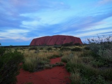 Uluru - coucher de soleil